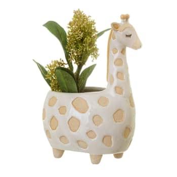 Keramický obal na květináč Gina Giraffe