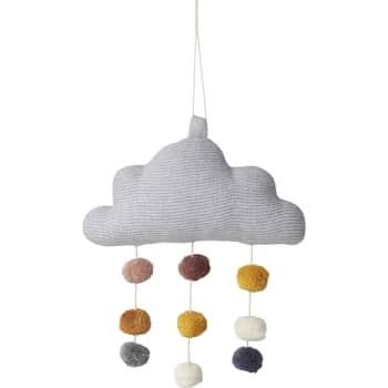 Bavlněný závěs Mimi Cloud Grey Melange
