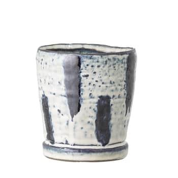Keramický obal na květináč Blue Stripe – menší