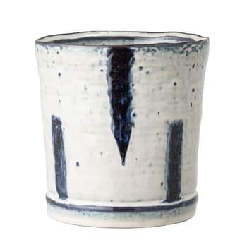 Keramický obal na květináč Blue Stripe – větší