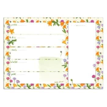 Celoroční týdenní plánovač A4 Flowers