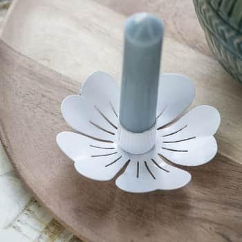 Kovový svietnik White Flower