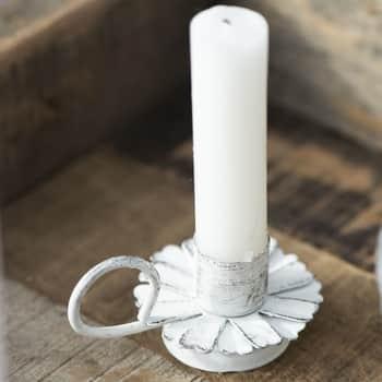 Svícen Flower White