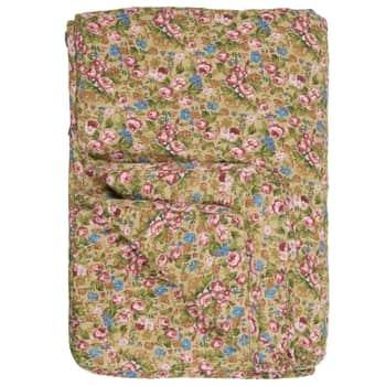 Prešívaná deka Rose and Blue Flowers 130x180 cm