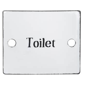 Smaltovaná retro cedulka Toilet