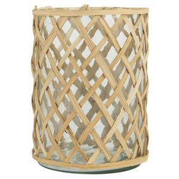 Sklenený svietnik Bamboo Braid