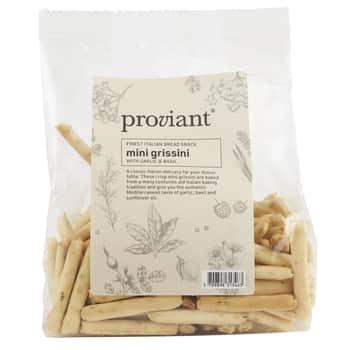 Slané krekry Mini Grissini Garlic & Basil