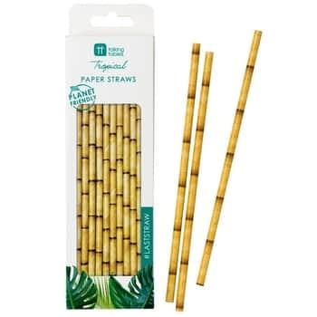 Papierové slamky Fiesta Bamboo Paper Straws 30 ks