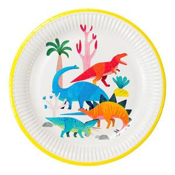 Detský papierový riad Dinosaur Plates 8 ks