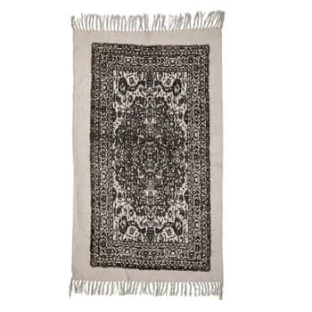 Bavlněný koberec Cream&Black 150x90