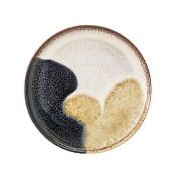 Dezertný tanier Jules Blue/Cream/Sand