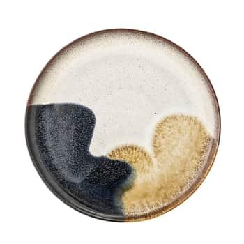 Kameninový tanier Jules Blue/Cream/Sand