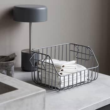 Kovový košík Nagpur Grey - větší