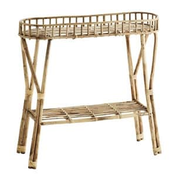 Úzký bambusový stolek Natural