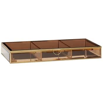 Skleněný box Gold Brown