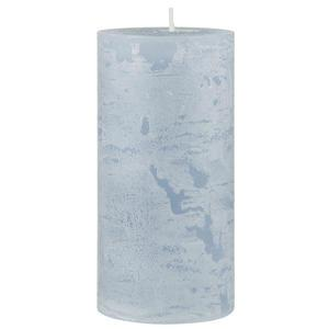 Sviečka Tall Rustic Candle Light Blue