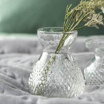 Skleněná váza Pattern Clear