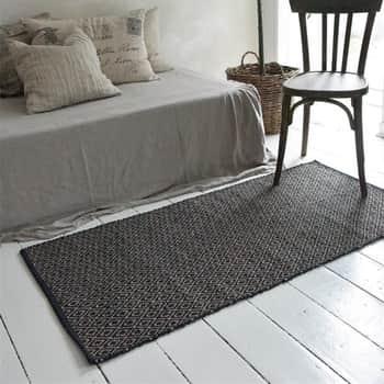 Jutový koberec Diamont Black 70x140cm