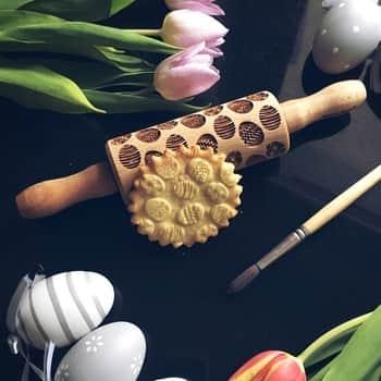 Velikonoční embosovaný váleček na těsto Easter Eggs Mini