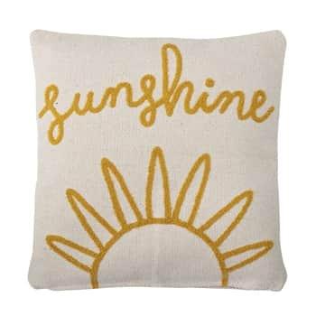 Tkaný bavlněný polštář Sunshine