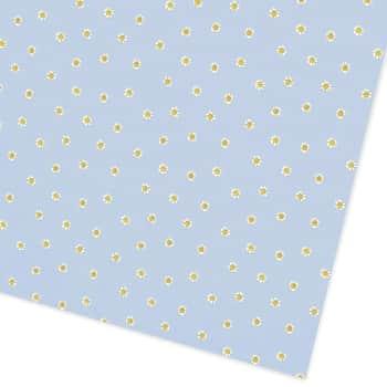 Balicí papír Blue Daisies 50 x 70 cm