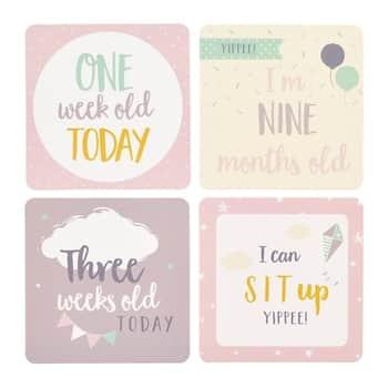 Kartičky smilníky miminka Pink - 24 ks