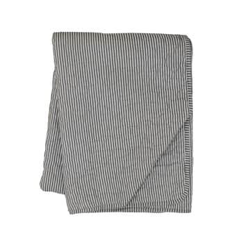 Prošívaný bavlněný přehoz Charcoal 130x180cm
