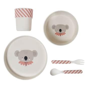 Bambusové nádobí pro děti Koala - set 5 ks