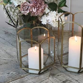 Lucerna Hexagonal Brass Antique