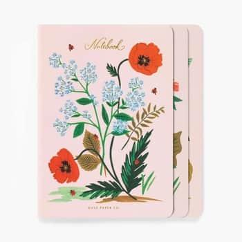 Set linkovaných notesíkov Botanical - 3ks