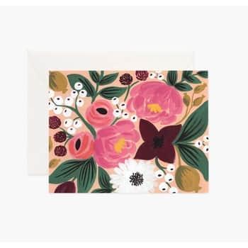 Přání sobálkou Vintage Blossoms Peach