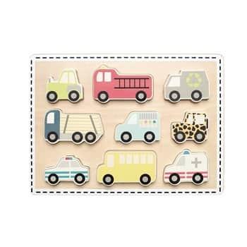 Dětská dřevěná vkládačka Cars