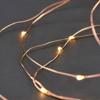 Svetelný LED drôtik sčasovačom Copper - 10m