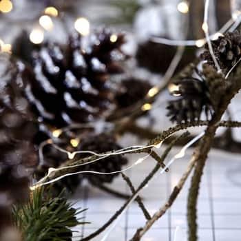 Svetelný LED drôtik sčasovačom Silver - 10m