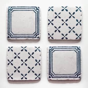 Kamenné podtácky Blue Pattern
