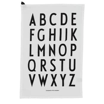 Bavlněná utěrka Design Letters White - set 2ks