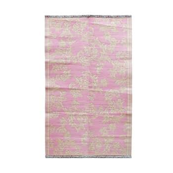 Plastový koberec Bubblegum Pink and Creme 150x90 cm