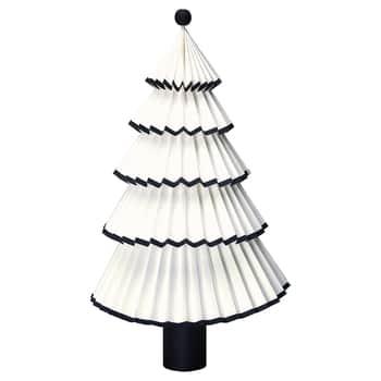 Dekorativní papírový stromeček Nova Black 42cm