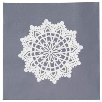 Papírové ubrousky Big Snowflake