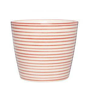 Latte cup Casablanca Red Stripes