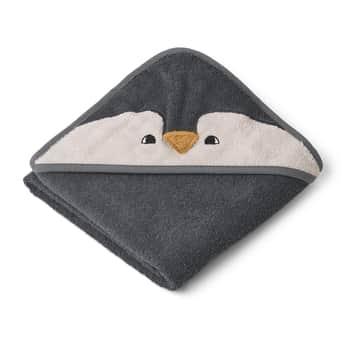 Dětská osuška skapucí Penguin Stone Grey