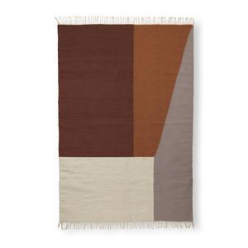 Vlněný koberec Borders Kelim Rug 140 x 200 cm
