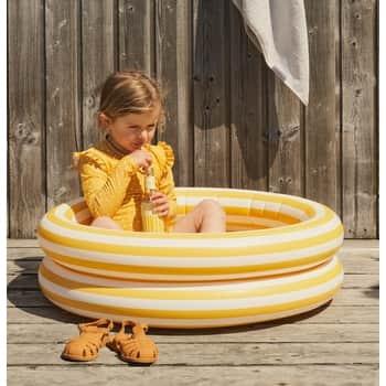 Nafukovací bazén pre deti Stripe Yellow Creme - 80cm