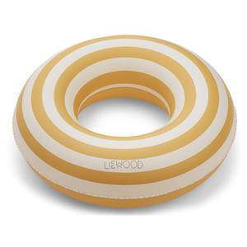 Nafukovací kruh Stripe Yellow Creme - 45cm