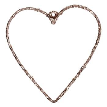 Závěsné kovové srdce Champagne - menší