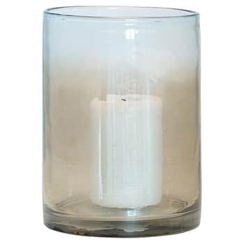 Skleněný svícen Smoke Glass 18 cm