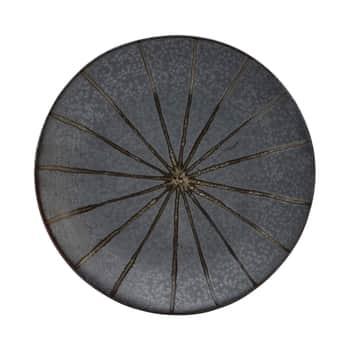 Kameninový dezertní talíř Suns Dark Brown