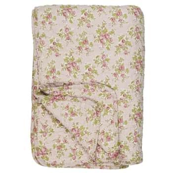 Prošívaná deka Flowers Pink 130 x 180 cm