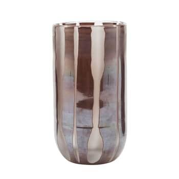 Skleněná váza Bai Brown 15 cm
