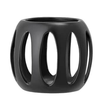 Keramický svícen Black Stoneware